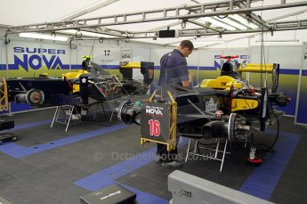 © Octane Photographic Ltd. 2011. European Formula1 GP, Friday 24th June 2011. GP2 Practice. Super Nova garage. Digital Ref: 0082CB1D6141
