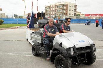 © Octane Photographic Ltd. 2011. European Formula1 GP, Friday 24th June 2011. GP2 Practice. iSport International's mobile garage. Digital Ref: 0082CB1D6169