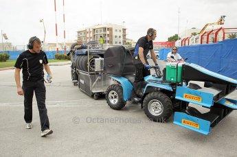 © Octane Photographic Ltd. 2011. European Formula1 GP, Friday 24th June 2011. GP2 Practice. Ocean Racing Technology's mobile Garage. Digital Ref: 0082CB1D6178