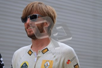 © Octane Photographic Ltd. 2011. European Formula1 GP, Friday 24th June 2011. Formula 1 paddock. Nick Heidfeld -  Lotus Renault GP Digital Ref:  0086LW7D5991