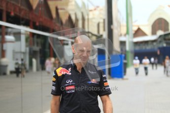 © Octane Photographic Ltd. 2011. European Formula1 GP, Friday 24th June 2011. Formula 1 paddock. Adrian Newey - Red Bull Racing Digital Ref:  0086LW7D6186
