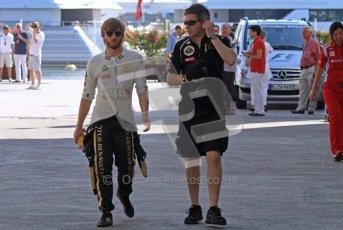 © Octane Photographic Ltd. 2011. European Formula1 GP, Saturday 25th June 2011. Formula 1 paddock. Nick Heidfeld - Lotus Renault GP Digital Ref: 0087LW7D6237