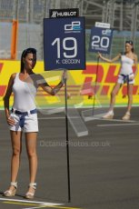 © Octane Photographic Ltd. 2011. European Formula1 GP, Sunday 26th June 2011. GP2 Sunday race. Luca Filippi - Scuderia Coloni Grid Girl. Digital Ref:  0090CB1D8992