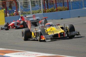 © Octane Photographic Ltd. 2011. European Formula1 GP, Sunday 26th June 2011. GP2 Sunday race. Romain Grosjean - DAMS. Digital Ref:  0090CB1D9191