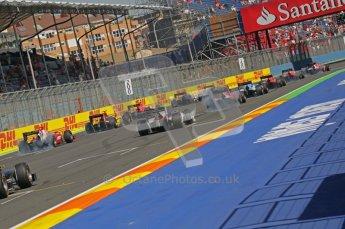 © Octane Photographic Ltd. 2011. European Formula1 GP, Sunday 26th June 2011. GP2 Sunday race. Start of Race 2. Digital Ref:  0090CB1D9213