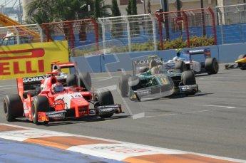 © Octane Photographic Ltd. 2011. European Formula1 GP, Sunday 26th June 2011. GP2 Sunday race. Josef Král - Arden International being overtaken by Esteban Gutiérrez - Lotus ART. Digital Ref:  0090CB1D9245