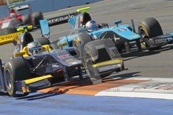 © Octane Photographic Ltd. 2011. European Formula1 GP, Sunday 26th June 2011. GP2 Sunday race. Adam Carroll - Super Nova battling with Johnny Cecotto - Ocean Racing Technology. Digital Ref:  0090CB1D9328