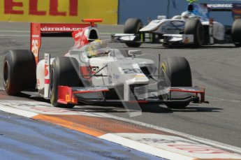 © Octane Photographic Ltd. 2011. European Formula1 GP, Sunday 26th June 2011. GP2 Sunday race. Luiz Razia - Caterham Team AirAsia. Digital Ref:  0090CB1D9348