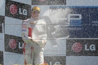 © Octane Photographic Ltd. 2011. European Formula1 GP, Sunday 26th June 2011. GP2 Sunday race. Race 2 Podium, Esteban Gutiérrez - Lotus ART, Luiz Razia - Caterham Team AirAsia, Giedo Van Der Garde - Barwa Addax Team. Digital Ref: 0090CB1D9613