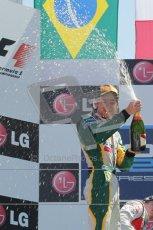 © Octane Photographic Ltd. 2011. European Formula1 GP, Sunday 26th June 2011. GP2 Sunday race. Race 2 Podium, Esteban Gutiérrez - Lotus ART, Luiz Razia - Caterham Team AirAsia, Giedo Van Der Garde - Barwa Addax Team. Digital Ref:  0090CB1D9634