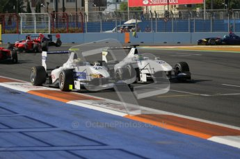 © Octane Photographic Ltd. 2011. European Formula1 GP, Sunday 26th June 2011. GP3 Sunday race. Gabby Chaves leads Dean Smith - both Addax Team. Digital Ref:  0091CB1D8807