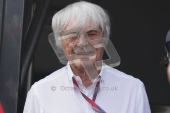 © Octane Photographic Ltd. 2011. Formula 1 World Championship – Italy – Monza – 11th September 2011. Race Day in the Paddock. Bernie Ecclestone, F1 Supremo outside his motorhome before the race. Digital Ref : 0193LW7D7056