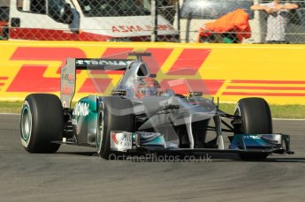 © Octane Photographic Ltd. 2011. Formula 1 World Championship – Italy – Monza – 9th September 2011 – Michael Schumacher - Mercedes MGP W02, Free practice 1 – Digital Ref : 0173CB1D1681