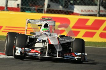 © Octane Photographic Ltd. 2011. Formula 1 World Championship – Italy – Monza – 9th September 2011 –Sergio Perez, Sauber C30 - Free practice 1 – Digital Ref : 0173CB1D1797