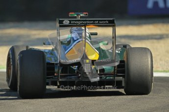 © Octane Photographic Ltd. 2011. Formula 1 World Championship – Italy – Monza – 9th September 2011 –Team Lotus TL128, Heikki Kovalainen - Free practice 1 – Digital Ref : 0173CB1D1821