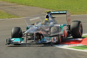 © Octane Photographic Ltd. 2011. Formula 1 World Championship – Italy – Monza – 9th September 2011 – Nico Rosberg - Mercedes MGP W02, Free practice 1 – Digital Ref : 0173CB1D1915