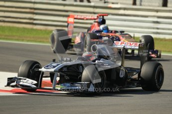 © Octane Photographic Ltd. 2011. Formula 1 World Championship – Italy – Monza – 9th September 2011 – Rubens Barrichello, Williams FW33 -  Free practice 1 – Digital Ref :  0173CB1D2050