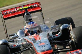 © Octane Photographic Ltd. 2011. Formula 1 World Championship – Italy – Monza – 9th September 2011 – Jenson Button - Vodafone McLaren Mercedes MP4/26,  Free practice 1 – Digital Ref :  0173CB1D2083