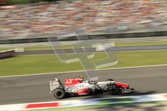 © Octane Photographic Ltd. 2011. Formula 1 World Championship – Italy – Monza – 9th September 2011 – Viantonio Liutzi, HRT F111 - Free practice 1 – Digital Ref :  0173CB7D6004