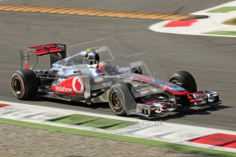© Octane Photographic Ltd. 2011. Formula 1 World Championship – Italy – Monza – 9th September 2011 – Jenson Button - Vodafone McLaren Mercedes MP4/26, Free practice 1 – Digital Ref : 0173CB7D6072
