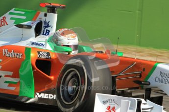 © Octane Photographic Ltd. 2011. Formula 1 World Championship – Italy – Monza – 9th September 2011 – Free practice 2, Force India VJM04 - Paul di Resta – Digital Ref :  0174CB7D6565