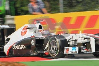 © Octane Photographic Ltd. 2011. Formula 1 World Championship – Italy – Monza – 10th September 2011, Kamui Kobayashi, Sauber C30 – Free practice 3 – Digital Ref :  0175CB1D2545