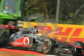 © Octane Photographic Ltd. 2011. Formula 1 World Championship – Italy – Monza – 10th September 2011, Lewis Hamilton, Vodafone McLaren Mercedes MP4/26 – Free practice 3 – Digital Ref :  0175CB1D2613