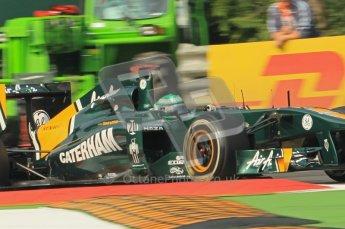 © Octane Photographic Ltd. 2011. Formula 1 World Championship – Italy – Monza – 10th September 2011 - Heikki Kovalainen, Team Lotus T128 – Free practice 3 – Digital Ref :  0175CB1D2662