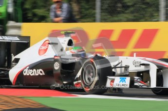 © Octane Photographic Ltd. 2011. Formula 1 World Championship – Italy – Monza – 10th September 2011, Sergio Perez, Sauber C30 – Free practice 3 – Digital Ref :  0175CB1D2728