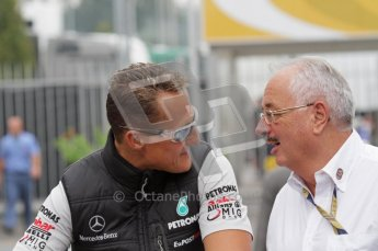 © Octane Photographic Ltd. 2011. Formula 1 World Championship – Italy – Monza – 10th September 2011 - Michael Shumacher, Mercedes GP and FIA steward Paul Gutjahr – Free practice 3 – Digital Ref : 0175LW7D5936
