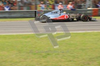 © Octane Photographic Ltd. 2011. Formula 1 World Championship – Italy – Monza – 11th September 2011 Lewis Hamilton's McLaren's brakes glow under heavy braking – Race – Digital Ref : 0177CB7D8137