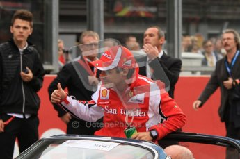 © Octane Photographic Ltd. 2011. Formula One Belgian GP – Spa – Sunday 28th August 2011 – Drivers' parade and starting grid. Felipe Massa in the Ferrari 246GTS Dino. Digital Reference : 0167lw7d8215