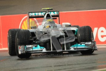 © Octane Photographic Ltd. 2011. Formula One Belgian GP – Spa – Friday 26th August 2011 – Free Practice 1, Nico Rosberg - Mercedes MGP W02. Digital Reference : 0163CB1D7106