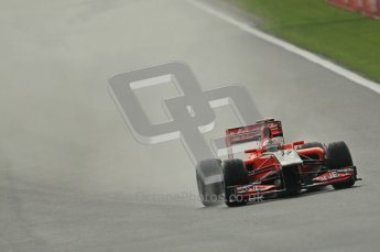 © Octane Photographic Ltd. 2011. Formula One Belgian GP – Spa – Friday 26th August 2011 – Free Practice 1, Timo Glock - Marussia Virgin Racing MVR02. Digital Reference : 0163CB1D7151