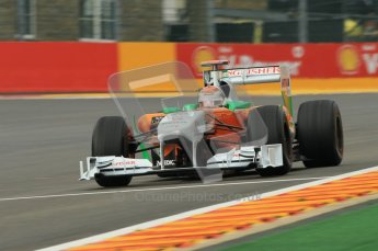 © Octane Photographic Ltd. 2011. Formula One Belgian GP – Spa – Friday 26th August 2011 – Free Practice 1, Adrian Sutil - Force India VJM04. Digital Reference : 0163CB1D7267