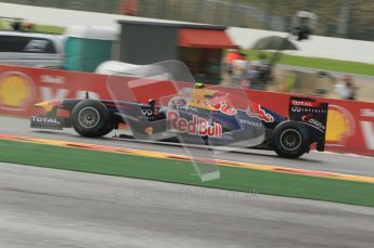 © Octane Photographic Ltd. 2011. Formula One Belgian GP – Spa – Friday 26th August 2011 – Free Practice 1, Mark Webber - Red Bull RB7. Digital Reference : 0163CB7D0434