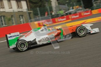 © Octane Photographic Ltd. 2011. Formula One Belgian GP – Spa – Friday 26th August 2011 – Free Practice 1, Paul di Resta - Force India VJM04. Digital Reference : 0163LW7D0708