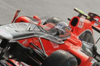 © Octane Photographic Ltd. 2011. Formula One Belgian GP – Spa – Friday 26th August 2011 – Free Practice 1, Jerome d'Ambrosio - Marussia Virgin Racing VMR02. Digital Reference : 0163LW7D1073