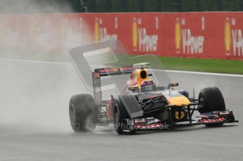 © Octane Photographic Ltd. 2011. Formula One Belgian GP – Spa – Friday 26th August 2011 – Free Practice 1, Mark Webber - Red Bull RB7. Digital Reference : 0163LW7D1099