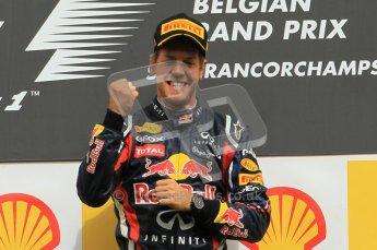 © Octane Photographic Ltd. 2011. Formula One Belgian GP – Spa – Sunday 28th August 2011, Sebastian Vettel victorious!. Digital Reference : 0169cb1d1002