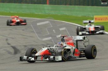 © Octane Photographic Ltd. 2011. Formula One Belgian GP – Spa – Sunday 28th August 2011 – Race. Daniel Ricciardo, HRT F111. Digital Reference : 0168cb1d0542
