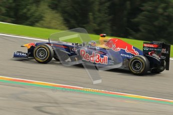 © Octane Photographic Ltd. 2011. Formula One Belgian GP – Spa – Sunday 28th August 2011 – Race. Sebastien Vettel, Red Bull Racing RB7. Digital Reference : 0168cb1d0959