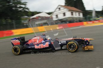 © Octane Photographic Ltd. 2011. Formula One Belgian GP – Spa – Sunday 28th August 2011 – Race. Sebastien Buemi - Torro Roso STR6. Digital Reference : 0168lw7d8741