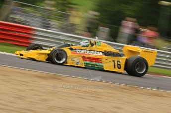 World © Octane Photographic. FIA Historic Formula 1 Championship – Round 5 – Brands Hatch, Sunday 3rd July 2011, F1. Richard Barber. Ex-Emerson Fittipaldi F5A2. Digital Ref : 0105CB7D8246