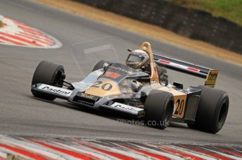 World © Octane Photographic. FIA Historic Formula 1 Championship – Round 5 – Brands Hatch, Sunday 3rd July 2011, F1, Peter Wuensch. Ex-Emerson Fittipaldi Wolf WR1-2. Digital Ref : 0105CB7D8368
