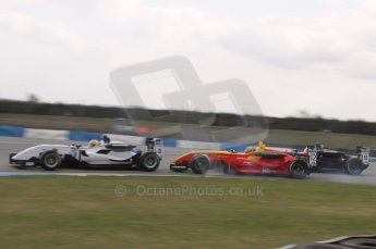 © Octane Photographic 2011 – Formula 3. Race 1. 24th September 2011, Adderly Fong locks his front inside wheel diving past Yuan Cunha in pursuit of Max Snegeriv. Digital Ref : 0184lw7d7934