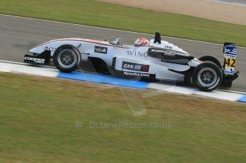 © Octane Photographic 2011 – British Formula 3 - Donington Park. 24th September 2011, Kotaro Sakuri - Hitech Racing Dallara F305 Mugen Honda. Digital Ref : 0182lw1d5397