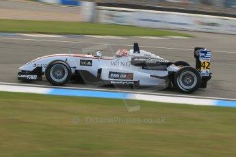 © Octane Photographic 2011 – British Formula 3 - Donington Park. 24th September 2011, Kotaro SAkuri, Hitech Racing Dallara F305 Mugen Honda. Digital Ref : 0182lw1d5469