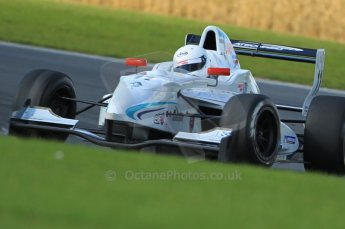 © Octane Photographic Ltd. 2011. Formula Renault 2.0 UK – Snetterton 300, Oscar King - Atech Reid GP, pushing through Montreal hairpin. Sunday 7th August 2011. Digital Ref : 0123CB1D3662