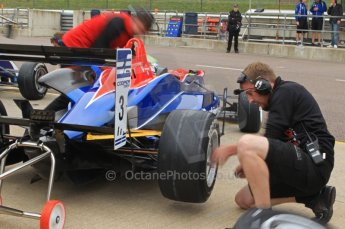 © Octane Photographic Ltd. The British F3 International & British GT Championship at Rockingham. Will Buller pit stop. Digital Ref: 0188CB7D1224